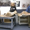 Python skin in basement gets new home