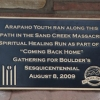 A new plaque honors Arapaho Indians